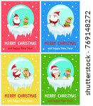 merry christmas and happy new... | Shutterstock .eps vector #769148272