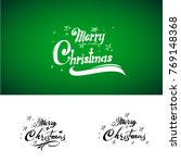 handwritten merry christmas... | Shutterstock .eps vector #769148368