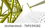 architecture building... | Shutterstock . vector #769154182