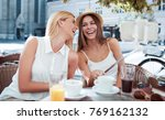coffee break after shopping.... | Shutterstock . vector #769162132