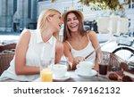 coffee break after shopping.... | Shutterstock . vector #769162132