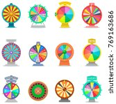 fortune wheel vector spin game... | Shutterstock .eps vector #769163686