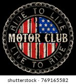 vintage motorcycle labels ... | Shutterstock .eps vector #769165582