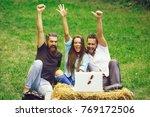 happy friends people pretty... | Shutterstock . vector #769172506