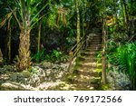 Stairs Of Stone Up In The Gree...