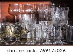 a variety of glasses on a... | Shutterstock . vector #769175026