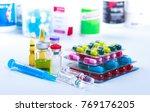 drug prescription for treatment ... | Shutterstock . vector #769176205