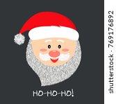 santa smile in cartoon style.... | Shutterstock .eps vector #769176892
