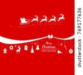 christmas poster or packing.... | Shutterstock .eps vector #769177636