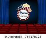 theater sign or a cinema sign... | Shutterstock .eps vector #769178125