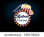 theater sign or a cinema sign... | Shutterstock .eps vector #769178332