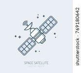 satellite icon vector monoline... | Shutterstock .eps vector #769180642