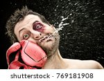 Silly Boxer Man Takes A Punch...