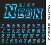 alphabet font template. set of... | Shutterstock .eps vector #769189402