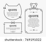cute quote bubbles vector... | Shutterstock .eps vector #769191022