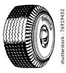 Big Tire   Retro Ad Art...