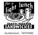light lunch   retro ad art...   Shutterstock .eps vector #76919482