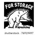 Fur Storage   Retro Ad Art...