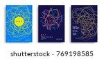 art festival design poster with ... | Shutterstock .eps vector #769198585