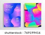 creative design poster with... | Shutterstock .eps vector #769199416