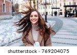 beautiful sensual stylish happy ... | Shutterstock . vector #769204075