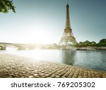eiffel tower in paris. france | Shutterstock . vector #769205302