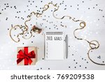 holiday decorations and... | Shutterstock . vector #769209538