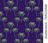 palm tree pattern seamless...   Shutterstock .eps vector #769213468
