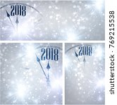 silver 2018 new year shining... | Shutterstock .eps vector #769215538