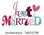 just married   Shutterstock .eps vector #76921759