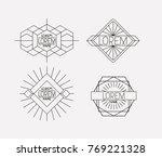 retro vintage insignias sketch...   Shutterstock .eps vector #769221328