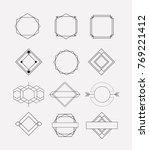 retro vintage insignias sketch... | Shutterstock .eps vector #769221412