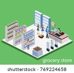 isometric 3d vector... | Shutterstock .eps vector #769224658
