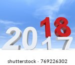 2018 white and red abstract... | Shutterstock . vector #769226302