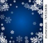 winter card border of snow... | Shutterstock . vector #769226836