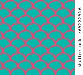 mermaid tail seamless pattern.... | Shutterstock .eps vector #769232956
