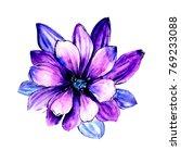 watercolor wild tropical exotic ... | Shutterstock . vector #769233088