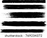 set of grunge brush strokes   Shutterstock .eps vector #769234372