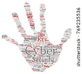 vector conceptual cyber... | Shutterstock .eps vector #769235536