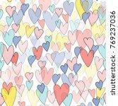 valentines day hearts... | Shutterstock . vector #769237036