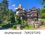pelisor castle  sinaia  romania.... | Shutterstock . vector #769237192