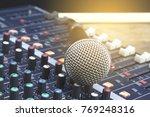 microphone and audio mixer ...   Shutterstock . vector #769248316