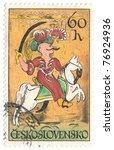 czechoslovakia   circa 1972  a...   Shutterstock . vector #76924936