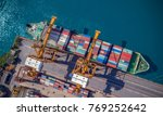 logistics and transportation of ... | Shutterstock . vector #769252642