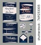 wedding invitation   save the... | Shutterstock .eps vector #769253305