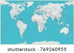 world map. old colors  borders  ... | Shutterstock .eps vector #769260955