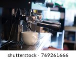 close up coffee machine in...   Shutterstock . vector #769261666