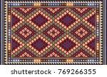 colorful oriental mosaic kilim... | Shutterstock .eps vector #769266355