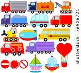 Vector Of Transportation Theme...