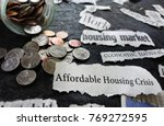 affordable housing crisis... | Shutterstock . vector #769272595